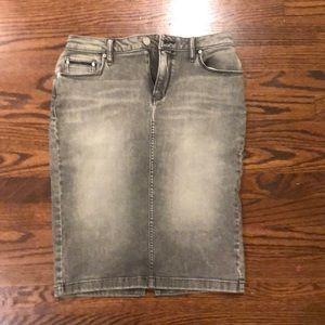 Calvin Klein Jeans Grey Denim Skirt